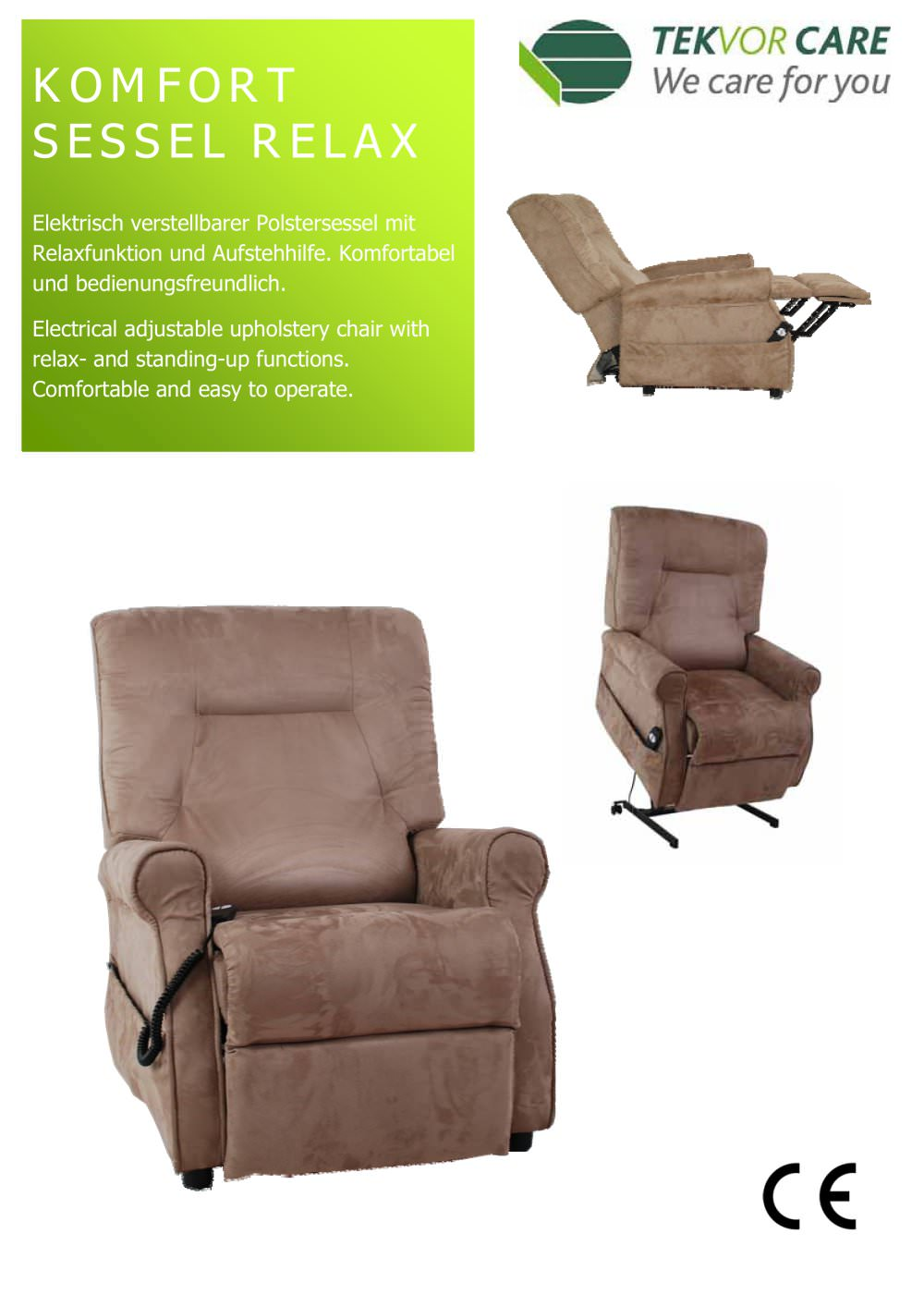 Chair Sessel Komfort Sessel Relax Tekvor Care Pdf Catalogs Technical