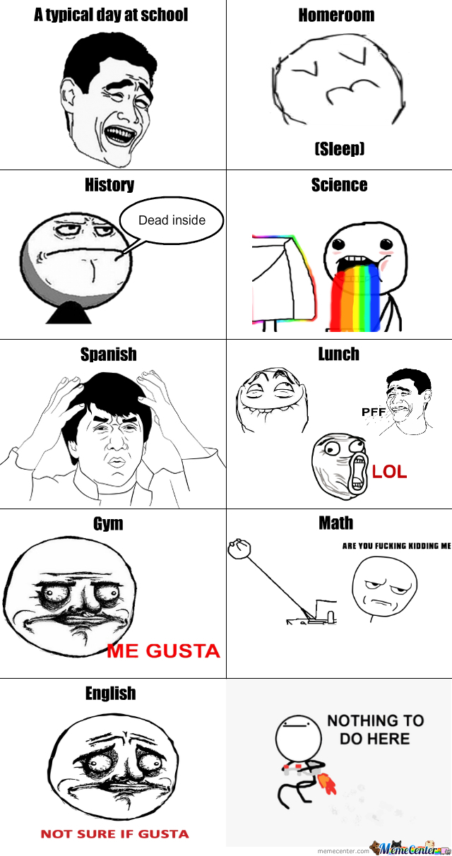A Typical Day At School by trololololololololol - Meme Center