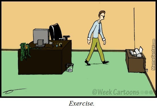 Office Workout by weekcartoons - Meme Center - office exercise