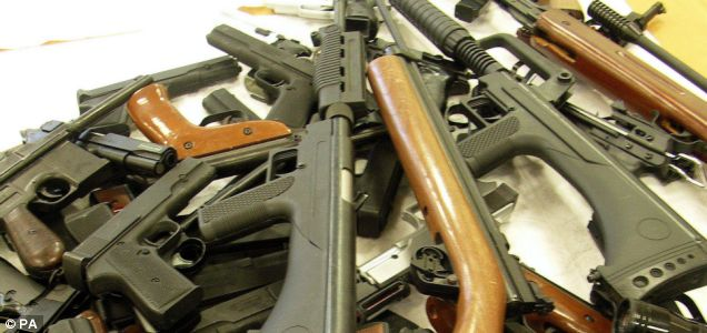 Aiming for a better cause: Guns seized by the London's Metropolitan Police could be used in the construction of Olympic buildings