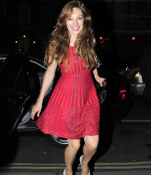 Kelly Brook Mahiki Mayfair wth Thom Evans