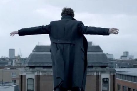 Sherlock prepares for his supposed suicide (Picture: BBC)