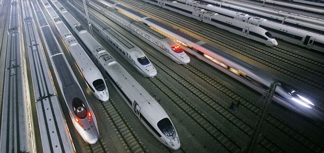 CRH trains in central China's Hubei province