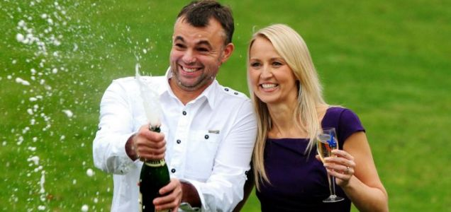 Gareth and Catherine Bull  Euromillions winners