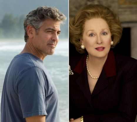 George Clooney, Meryl Streep, Oscars 2012