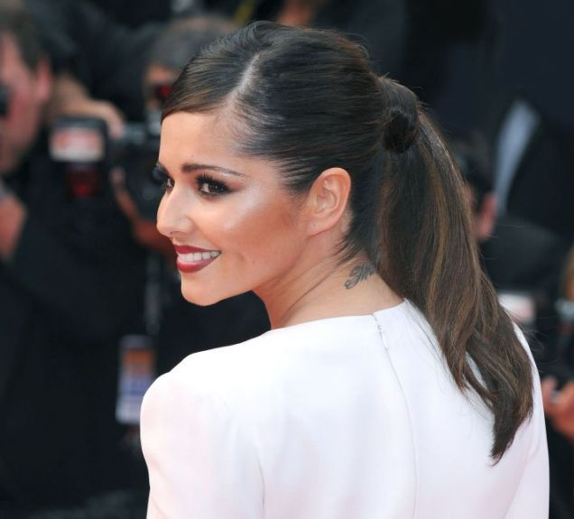 Cheryl Cole, neck tattoo