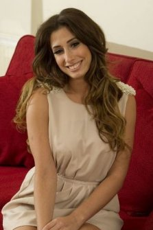 With singer Stacey Solomon