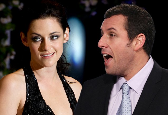 Kristen Stewart and Adam Sandler