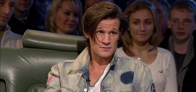 Matt Smith drops into the Top Gear studio (Picture: BBC)