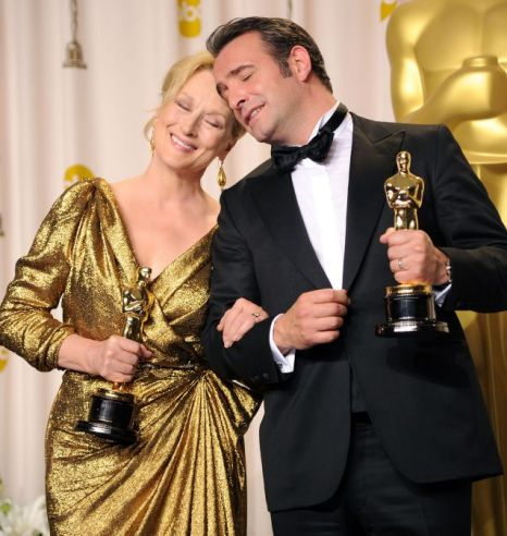 Meryl Streep, Jean Dujardin, Oscars 2012