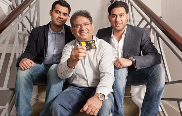 Pockit CEO Danny Jatania and his sons Yuvraj and Virraj