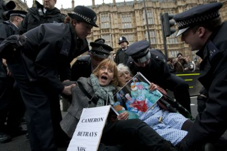 NHS reform protests