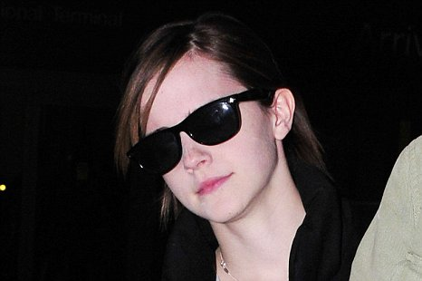Emma Watson shows no sign of jetlag after she flew in to Los Angeles from London 