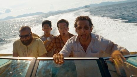 Hilarious! A still from Hangover II, that saw the men go wild in Thailand.