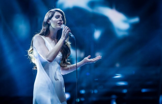 Lana Del Rey did not stay to chat on The Voice (Picture: BBC)