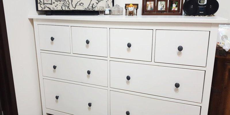 IKEA收納櫃。密集板受潮膨脹~低成本大改造/換季衣物收納分享!