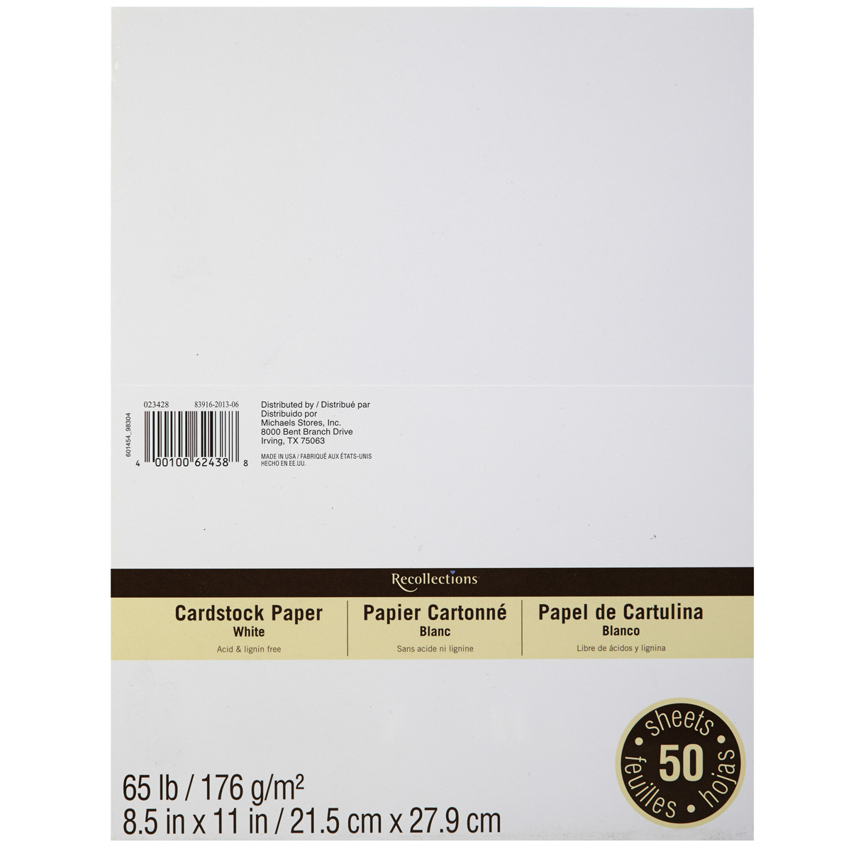Recollections cardstock paper value pack 8 5 x 11