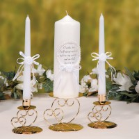 Unity Bridal 3-Pc Wedding Candle Set