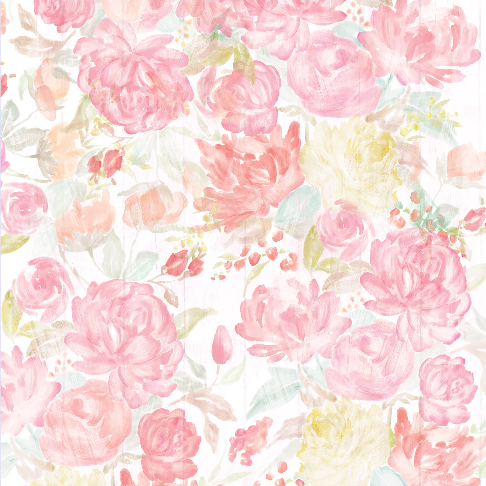 Cute Roses Wallpapers Download Shop For The Watercolor Floral Scrapbook Paper By