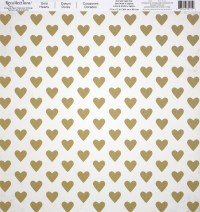 Buy the Gold Hearts Scrapbook Paper By Recollections at