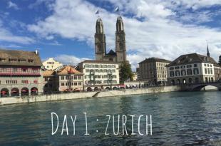 【女孩瑞士小旅行】Day1:蘇黎世市區慢慢遊
