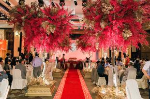 【婚禮】嘉義耐斯王子飯店║花意空間 喜氣洋洋中國風婚禮佈置