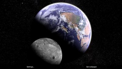 Скачать Earth and Moon in HD Gyro 3D Parallax Live Wallpaper 2.3 на Android