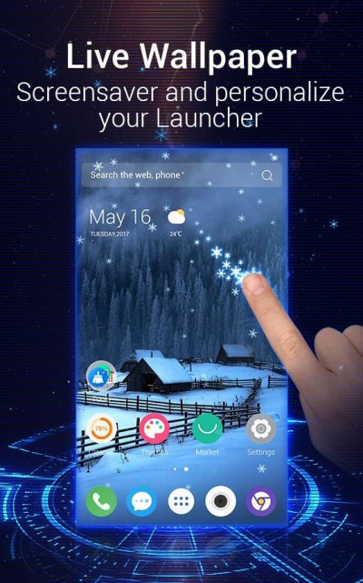 Скачать C Launcher 3D: Android Theme, Live Wallpaper 2.1.0.6 на Android