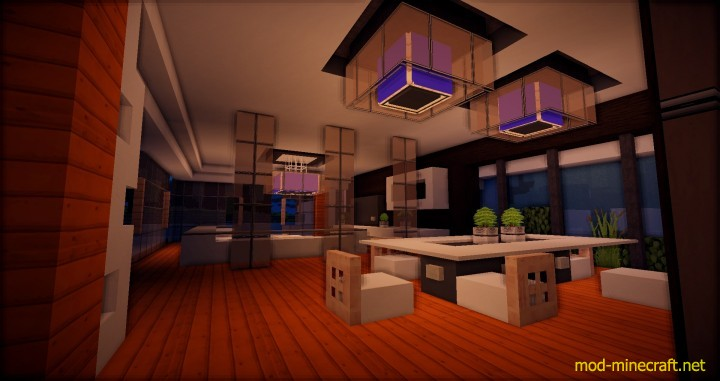 Minecraft Kitchen Mod 1.8 Beautiful Modern House Map - Mod-minecraft.net