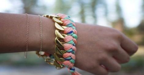 時尚配件自己來,DIY混搭風編織手環