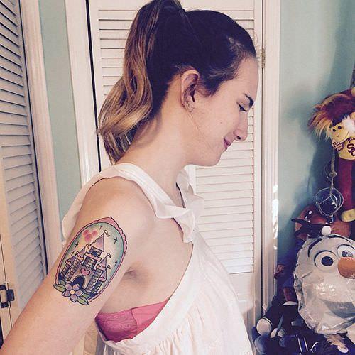 超可爱迪士尼公主们的特色刺青!你想刺刺看吗?