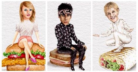 【名人藝術】三明治X名人的奇妙搭配!你能從猜出這是哪位歌手演員嗎?