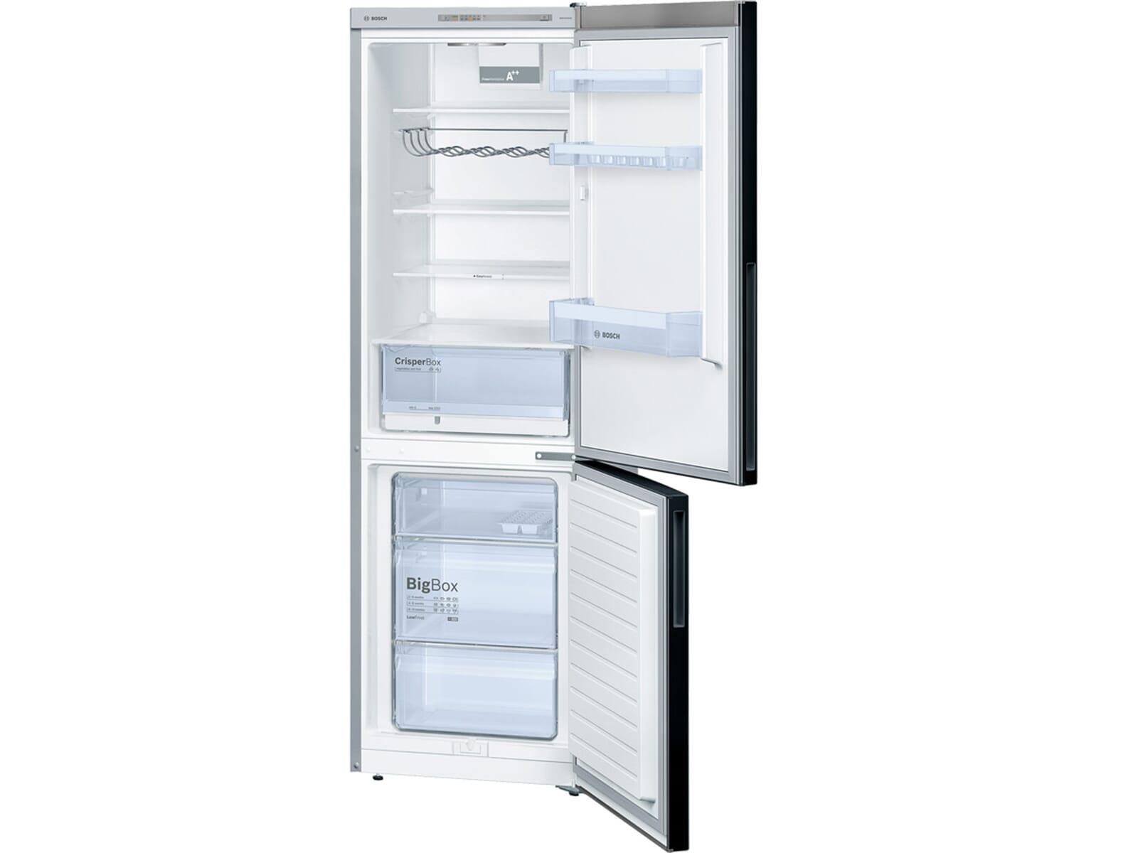 Bosch Kühlschrank Gefrierkombination : Kühl gefrierkombination schwarz siemens kg fsb kühl