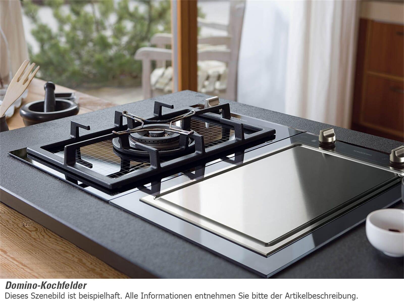 GroBartig Domino Kochfeld Teppan Yaki Edelstahl Autark 40cm Einbau