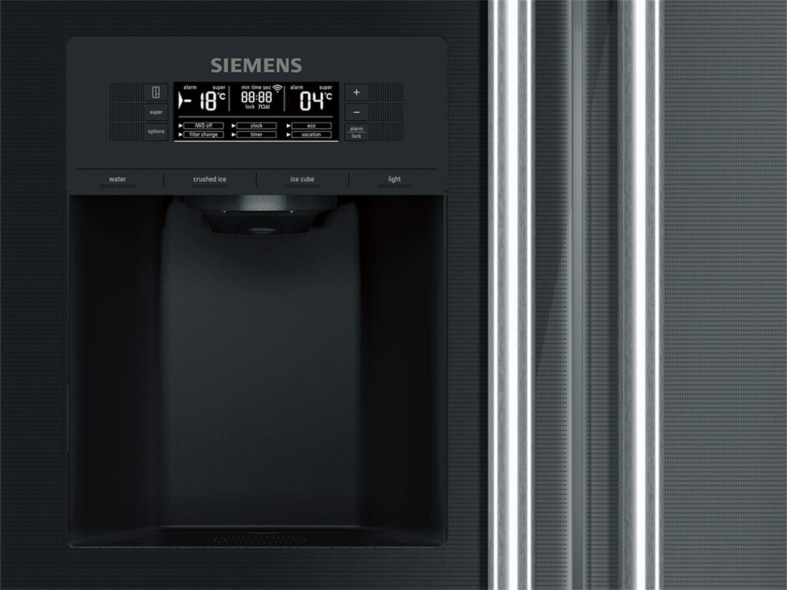Mini Kühlschrank Real : Freistehender kühlschrank mit eiswürfelspender finebuy mini