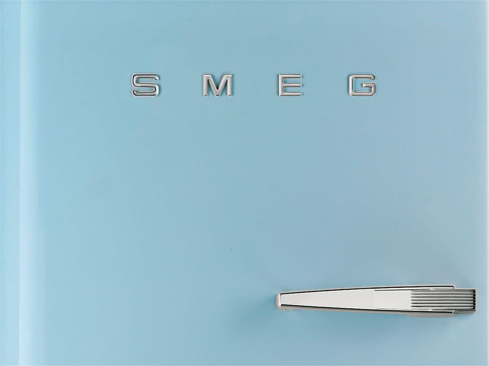 Smeg Kühlschrank Pastellblau : Kühl gefrierkombi retro smeg fab laz stand gefrierkombi