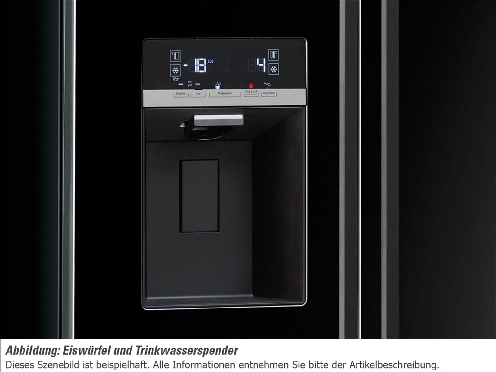 Smeg Kühlschrank Mit Icemaker : Edelstahl kühlschrank mit eiswürfelbereiter smeg sbs ned side