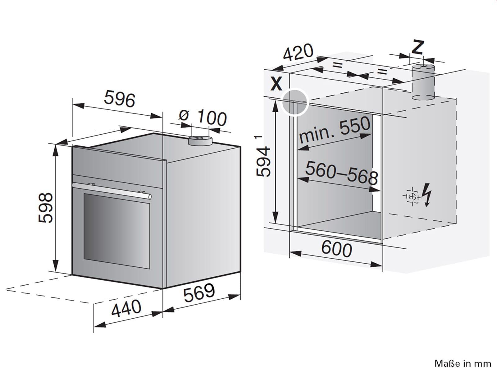 Backofen Masse Bosch Einbau Backofen Hmg 6764s1 Mobel Hoffner