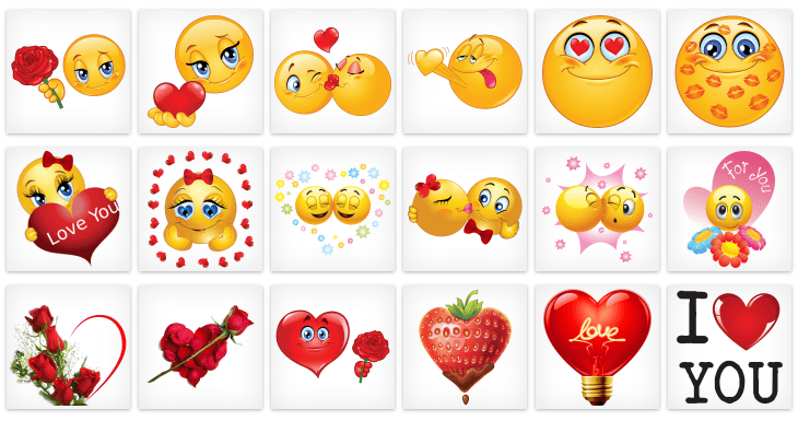 Falling Hearts Wallpaper Facebook Emoticons For Valentine S Day