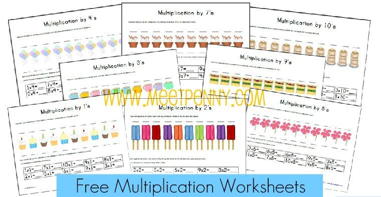 Educational Freebie Multiplication Worksheets Money