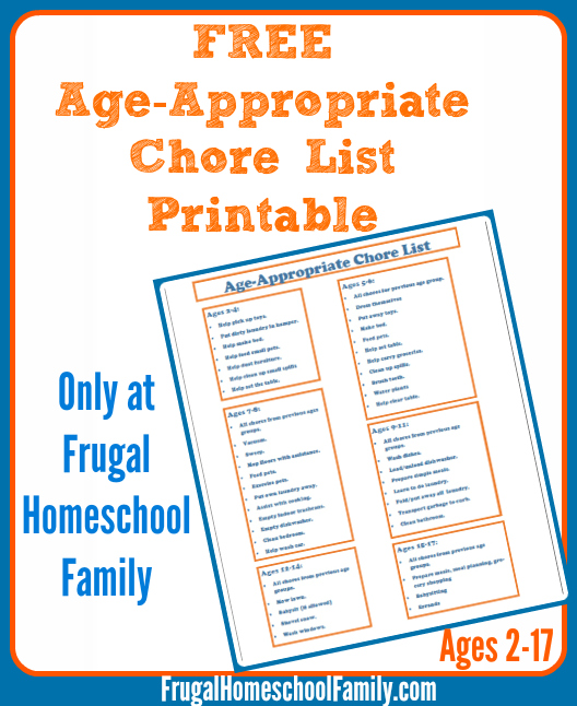 chores list for family - topl