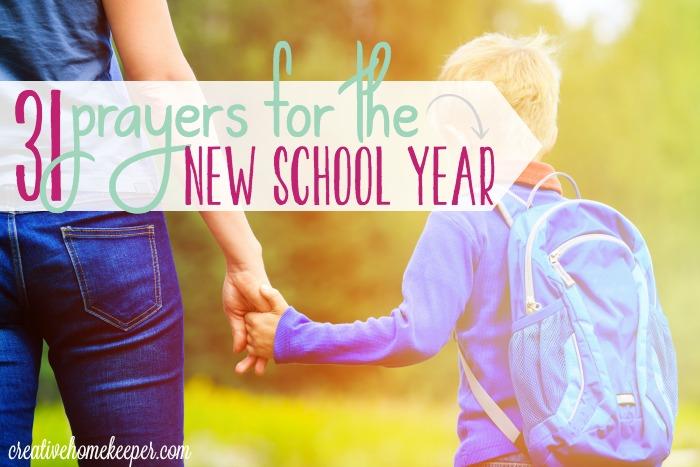 Free Printable Prayer Calendar for the School Year - Money Saving
