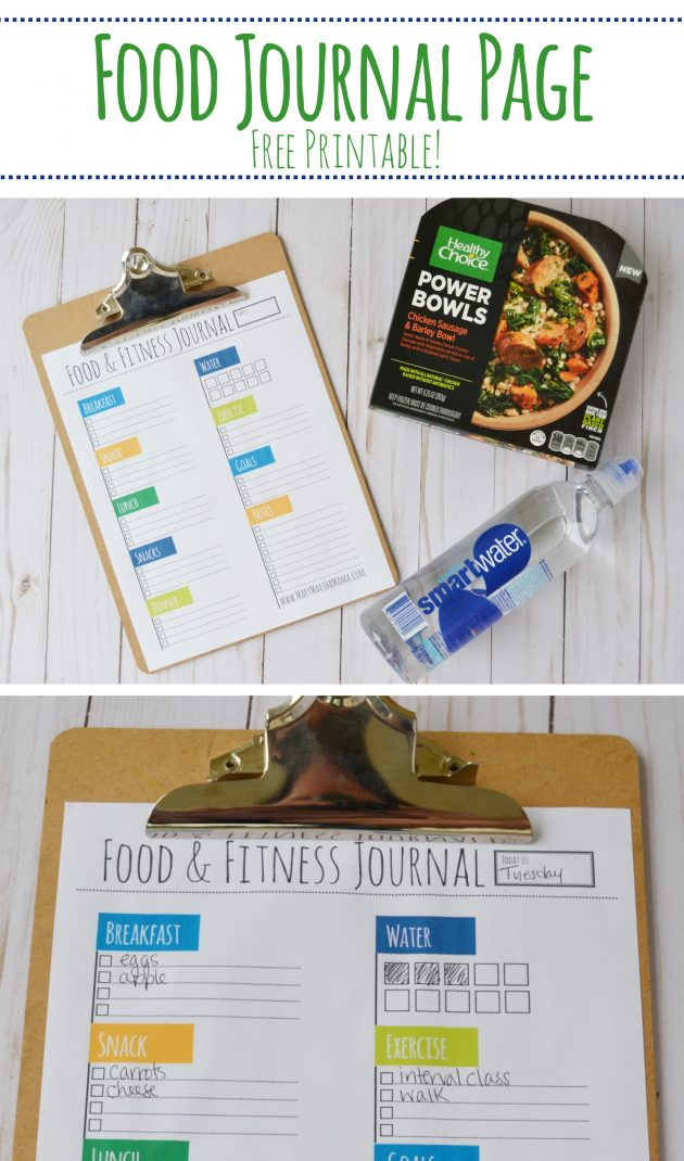Free Printable Food  Fitness Journal - Money Saving Mom® - Free Fitness Journal Printable