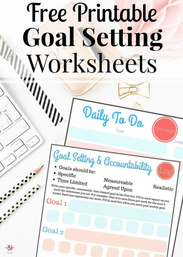 Free Printable Goal Setting Worksheets - Money Saving Mom® - goal setting templates
