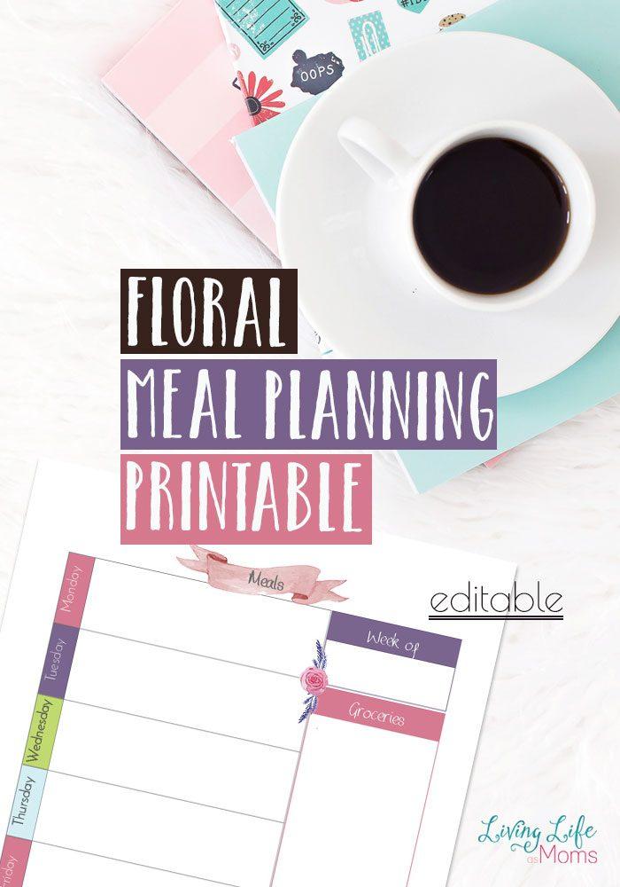Free Floral Meal Planning Printables - Money Saving Mom®  Money