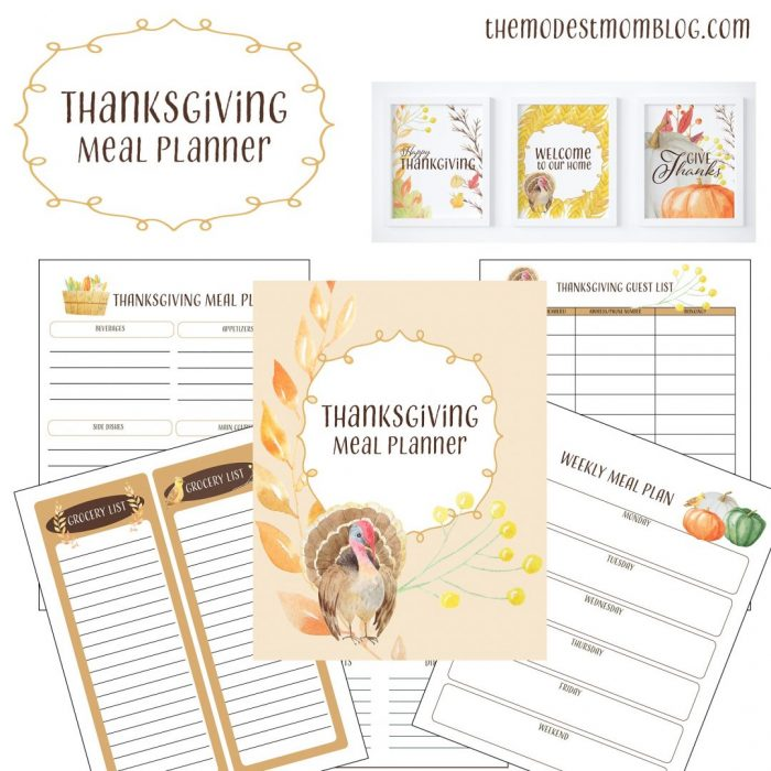 Free Printable Thanksgiving Meal Planner - Money Saving Mom®  Money