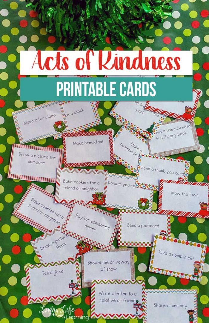 Free Printable Acts of Kindness Holiday Cards - Money Saving Mom