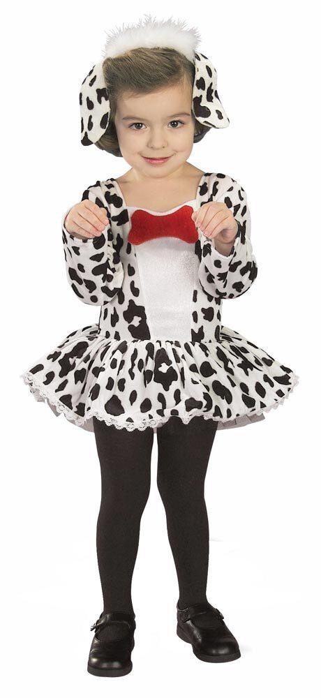 Girls Cute Dalmation Dog Toddler Costume