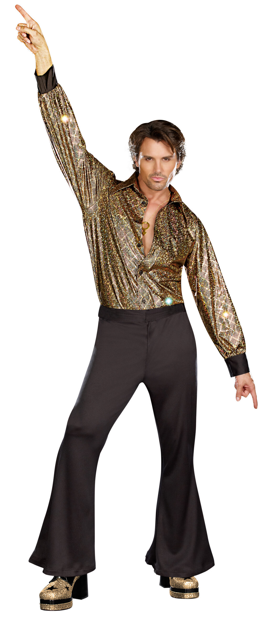 Outfit Disco Mens Disco Stayin Alive 70s Adult Costume Mr Costumes