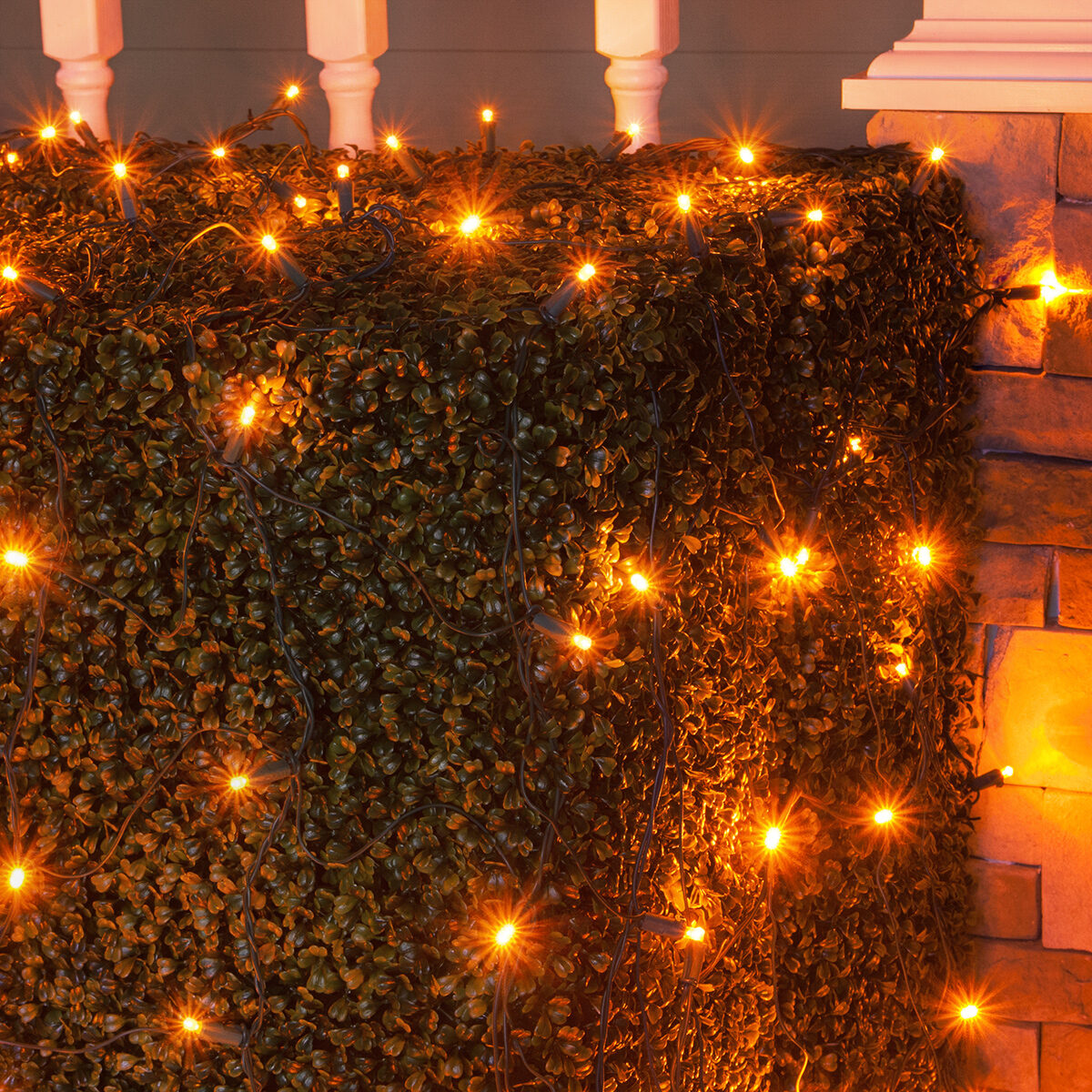 Led Halloween Lights Halloween Lights 100 Amber Led Net Lights On Green Wire Mr